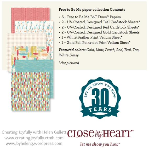 National Scrapbooking Month 2014. Get Free To Be Me Paper Collection for only $5 and Stamp of The Month for only $5 with your qualifying order $50 from May 1-31, 2014! Visit www.creatingjoyfully.ctmh.com
